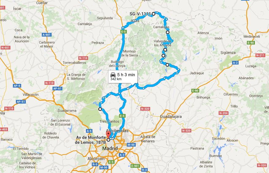 Pueblos De Segovia Mapa.Ruta A Pueblos Rojos Y Negros