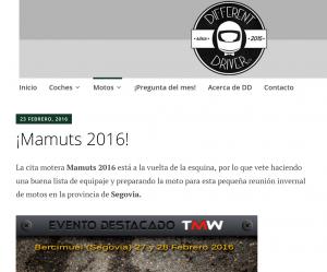 Articulo Mamuts 2016 en Different Driver