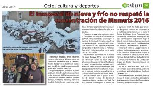 El Nordeste de Segovia Mamuts 2016