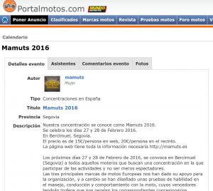 Articulo Mamuts 2016 en Portal Motos