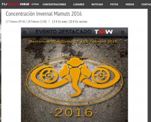 Tu Moto Web Mamuts 2016