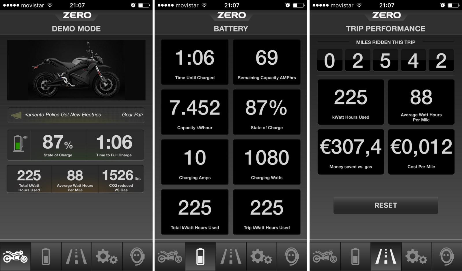 app Zero Motorcycles